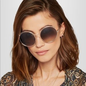 NEW CHLOE Isadora 59 mm round sunglasses